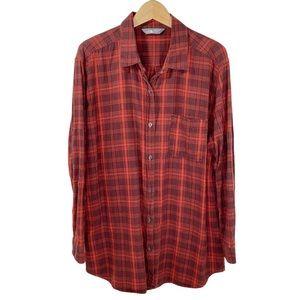 North Face Plaid Cotton Button Up Shirt Top Woven